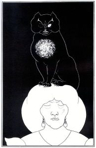 "Illustration for ""The Black Cat"" by Aubrey Beardsley (1894–1895)"